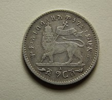 Ethiopia 1 Gersh Silver - Ethiopie