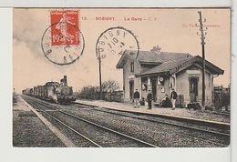 93 - BOBIGNY - La Gare Animée Avec Train - Bobigny