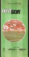 Official Football Programme Spartak (Moscow, USSR) - Lucerne (Switzerland) 1986 (calcio, Soccer) - Programs