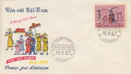 Enveloppe  FDC   1er  Jour   VIETNAM   Le   Mariage   1967 - Viêt-Nam