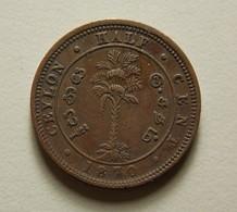 Ceylon 1/2 Cent 1870 - Sri Lanka