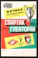 Official Football Programme Spartak (Moscow, USSR) - Glentoran (Belfast, Northern Ireland) 1988 (calcio, Soccer) - Programs