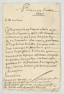 LàC 1694 De Paris à M. Morin Fermier De La Caillère à Thiré (Vendée) . Marque 5 Sols . - Postmark Collection (Covers)