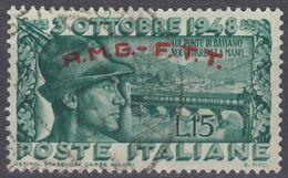 TRIESTE ZONA A - 1948 -  Yvert 30 Usato. - 7. Trieste