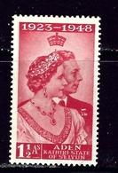 Aden 30 MNH 1948 Low Value From Silver Wedding Set - Aden (1854-1963)