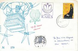 Courrier Par Ballon (montgolfière). 1983. Aalst (Erembodegem) => Waasmunster. Pilote: Fr. Schaut. Vol De Noël. Icarus. - Aéreo