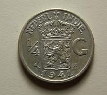 Netherlands East Indies 1/4 Gulden 1941 P Silver - [ 4] Colonies