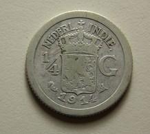 Netherlands East Indies 1/4 Gulden 1914 Silver - [ 4] Colonies