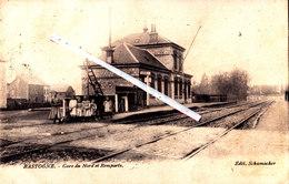 BASTOGNE - Gare Du Nord Et Remparts - Superbe Carte Animée - Bastogne