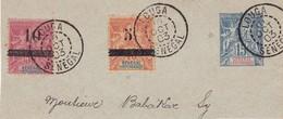 SENEGAL 1901 / 1903 - Timbres Sur Fragment YT 13, 26/27 Oblitérés De LOUGA Le 10/10/1903 - Senegal (1887-1944)