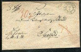 Preussen / 1843 / Vorphila-Briefhuelle K2-Stempel NAUMBURG, Rs. L2-Stempel SAALFELD Und Lacksiegel (10396) - Germany