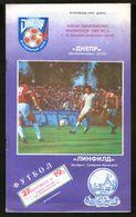 Official Football Programme Dnipro (Dnepropetrovsk) - Linfield (Belfast, Northern Ireland) 1989 (calcio, Soccer) - Programs