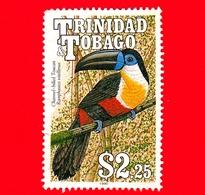 TRINIDAD & TOBAGO - Usato - 1990 - Uccelli - Tucano - Bird - Toucan - Ramphastos Vicellinus - 2.25 - Trindad & Tobago (1962-...)
