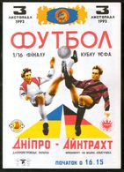 Official Football Programme Dnipro (Dnepropetrovsk, Ukraine) - Eintracht (Frankfurt, Germany) 1993 (calcio, Soccer) - Programs