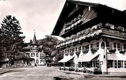 Oberammergau - Bahnhofstrasse Mit Hotel Wolf (Echt Foto) - Oberammergau