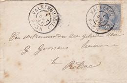 ENVELOPPE CIRCULEE 1898 VALKENBURG . NETHERLAND - BLEUP - Brieven En Documenten