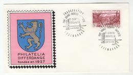 1966 BRIDGE INAUGURATION EVENT COVER Luxembourg Pont Grande Duchesse Charlotte Stamps - Briefe U. Dokumente