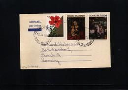 Cook Islands 1968 Interesting Airmail  Postcard - Cookinseln