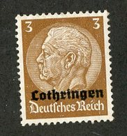 W-12789 Lothringen 1940 Mi.1 (*) Offers Welcome - Occupation 1938-45