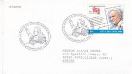 10 PAULUS II S. LUDOVICI GREGEM INVISIT. POSTE VATICANE YEAR 1999 CIRCULEE SPAIN - BLEUP - Vatican