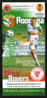Official Football Programme Vorskla (Poltava, Ukraine) - Sligo Rovers (Ireland) 2011 (calcio, Soccer) - Programs