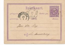 Nederlands Indië - 1885 - 5 Cent Willem III, Briefkaart G1 Van Kleinrond- En Puntstempel MAGELANG Naar Semarang - Nederlands-Indië