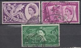 GB 1958 - MiNr: 303 - 305  Komplett   Used - 1952-.... (Elisabeth II.)