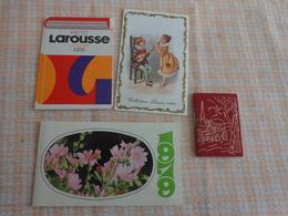 Petit Calendrier Pub 1979-1976-1979-1978--chicoree Leroux-larousse-librairie Pierre Loti -l'art Et L'utile Rochefort - Autres