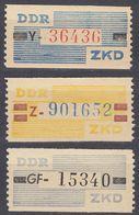 GERMANIA DDR - 1959/1960 - Lotto 5 Valori Nuovi MNH - Servizio ZKD. - DDR