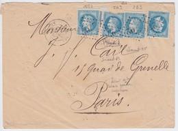 N°29B 4 Timbres, Variété Suarnet 55 Et 69, Positions 5A3, 8B3, 18B3, Défaut Sur Un Timbre, Les Autres TB - 1863-1870 Napoléon III Lauré