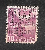 Perfin/perforé/lochung Switzerland No YT291/291a Chillon TW O  T. & Ing. W. Oertli  Zurich - Perforés