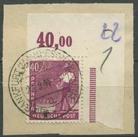 Alliierte Besetzung 1947 II. Kontrollratausgabe Ecke Platte 954 P OR TOP-Stempel - Gemeinschaftsausgaben