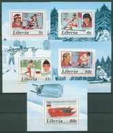 Liberia 1987 Olymp. Winterspiele Calgary 1355/59 A Blocks Postfrisch (C27474) - Liberia