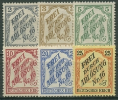 Deutsches Reich Dienstmarken 1905 Für Baden D 9/14 Ohne Gummierung (G17266) - Dienstpost