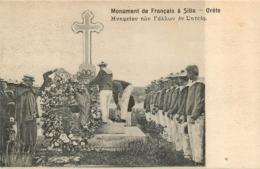 CRETE  MONUMENT DE FRANCAIS A SITIA - Greece
