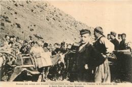 CRETE  REMISE DES ARMES AUX TROUPES INTERNATIONALES PAR LES INSURGES DE THERISSO 1905 A ST PAUL VILLAGE MOURNIES - Greece
