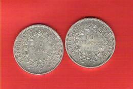 Lot De 2 Pièces 10 Francs Argent Hercule - France