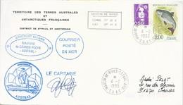 "TAAF-Martin De Vivies-St Paul-AMS: Lettre ""Austral"" Avec Timbres France N°2663 Gardon + 2619 Briat 0,50 - 04/02/1993 - Terres Australes Et Antarctiques Françaises (TAAF)"