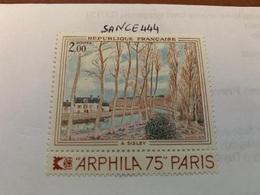France Art Painting Sisley 1974 Mnh - France