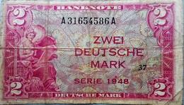 ALLEMAGNE  Germany Federal Rep., 2 Deutsche Mark 1948 - [ 6] 1949-1990 : RDA - Rép. Dém. Allemande