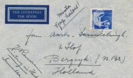 Nederlands Indië - 1938 - 20 Cent Leger Des Heils, Enkelfrankering Van LB SIBORONGBORONG Naar Bergeijk / Nederland - Nederlands-Indië