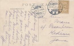 Nederlands Indië - 1923 - 7,5 Cent Cijfer, Enkelfrankering Op Ansicht Van LB Sabang Naar LB Kediri - Nederlands-Indië