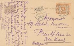 Nederlands Indië - 1931 - 5 Cent Opdruk, Briefkaart G44 Van LB SLAWI Naar LB Tegal - Nederlands-Indië