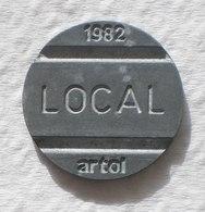 Brasil Telephone Token 1982 LOCAL Artol  SISTEMA TELEBRAS Logo  15 - Noodgeld