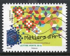 2014 Métiers D'art: Valeur Faciale 0,61 € Timbre Oblitéré De FRANCE La Nouvelle France Industrielle - France
