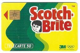 Telecarte 50 - Scotch-Brite - Advertising