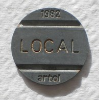 Brasil Telephone Token 1982 LOCAL Artol  SISTEMA TELEBRAS Logo  18 - Noodgeld