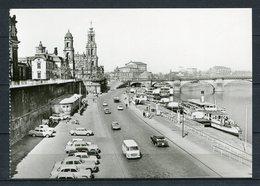 Dresden / An Der Brühlschen Terrasse/ Oldtimer PKW - Echt Foto S/w - N. Gel. - DDR - A 1/B 399/81 - Bild Und Heimat - Dresden