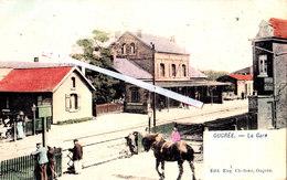OUGREE - La Gare - Splendide Carte Colorée Et Animée - Seraing