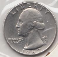 @Y@   United States Of America  Quarter Dollar   1967     (3026 ) - Émissions Fédérales